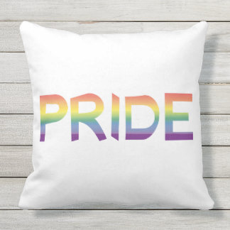 Rainbow Flag Pride Outdoor Pillow