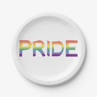 Rainbow Flag Pride Paper Plate
