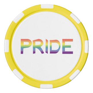 Rainbow Flag Pride Poker Chips