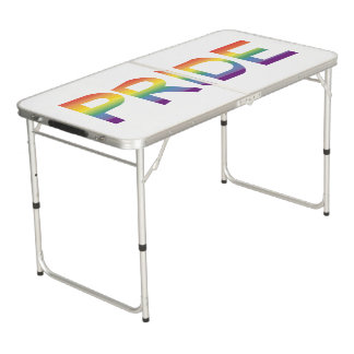 Rainbow Flag Pride Pong Table