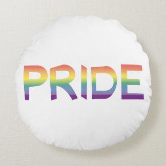 Rainbow Flag Pride Round Pillow