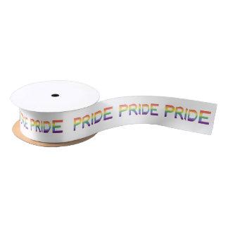 Rainbow Flag Pride Satin Ribbon