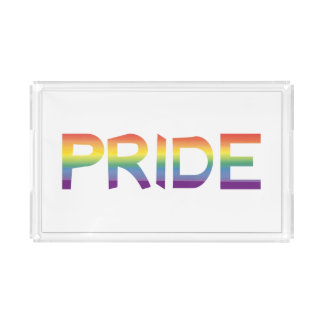 Rainbow Flag Pride Serving Tray