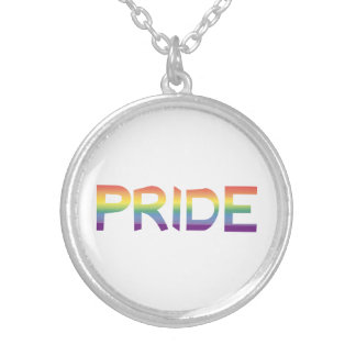 Rainbow Flag Pride Silver Plated Necklace