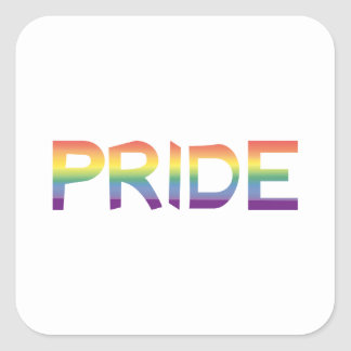 Rainbow Flag Pride Square Sticker