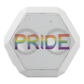 Rainbow Flag Pride White Bluetooth Speaker