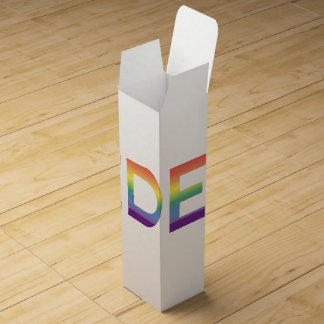 Rainbow Flag Pride Wine Box
