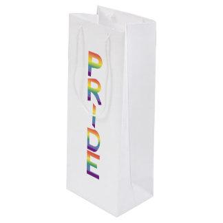 Rainbow Flag Pride Wine Gift Bag