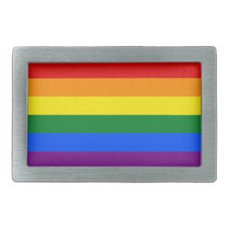 Rainbow Flag Rectangular Belt Buckle