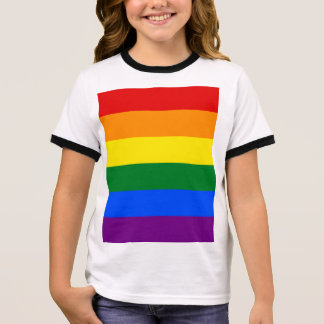 Rainbow Flag Ringer T-Shirt