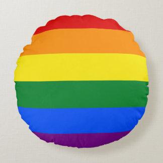 Rainbow Flag Round Pillow