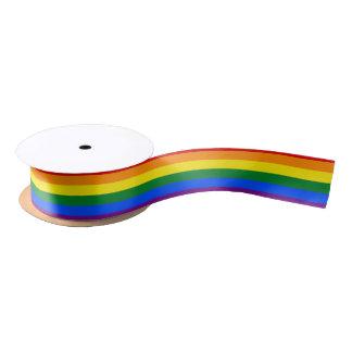 Rainbow Flag Satin Ribbon
