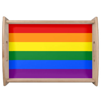 Rainbow Flag Serving Tray