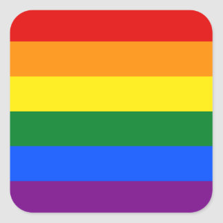 Rainbow Flag Square Sticker