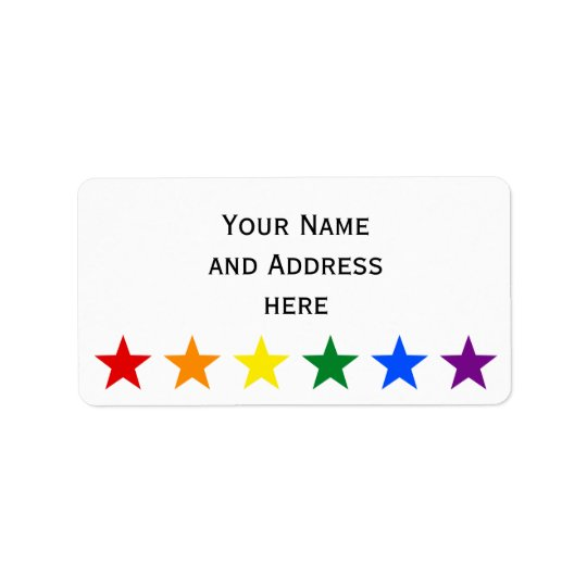 RAINBOW FLAG STARS + your ideas Label
