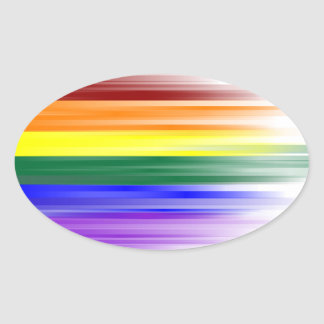 Rainbow Flag Sticker Sheet (Oval)