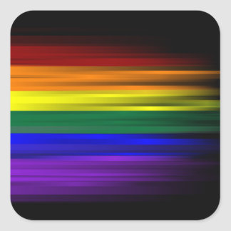 Rainbow Flag Sticker Sheet (Square)