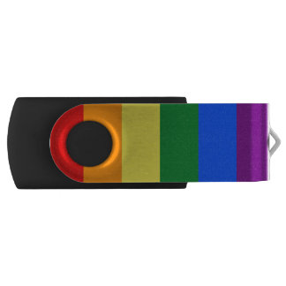 Rainbow Flag Swivel USB 2.0 Flash Drive