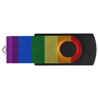 Rainbow Flag Swivel USB 3.0 Flash Drive