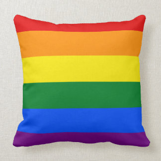 Rainbow Flag Throw Pillow