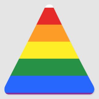 Rainbow Flag Triangle Sticker