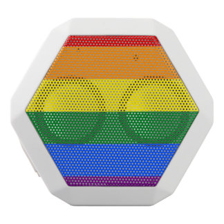 Rainbow Flag White Bluetooth Speaker
