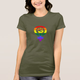 Rainbow Flag Woman Power women's t-shirt