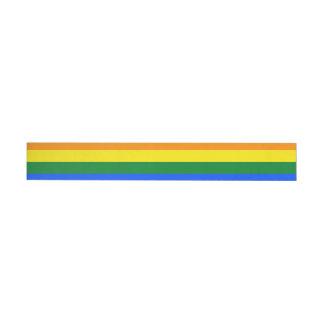 Rainbow Flag Wraparound Address Label
