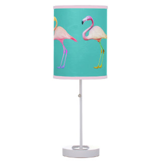 Rainbow Flamingo Lampshade Desk Lamps