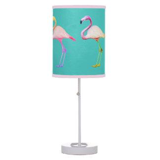 Rainbow Flamingo Lampshade Table Lamp