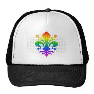 Rainbow Fleur-de-lis Hat