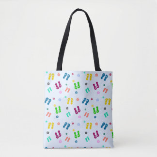 rainbow flips tote bag