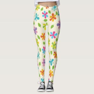 Rainbow Floral Leggings
