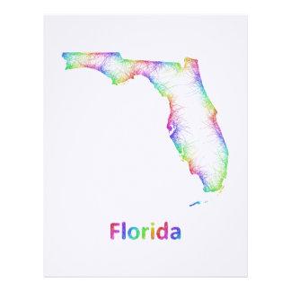 Rainbow Florida map Letterhead Template