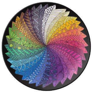 Rainbow flow Plate Porcelain Plates
