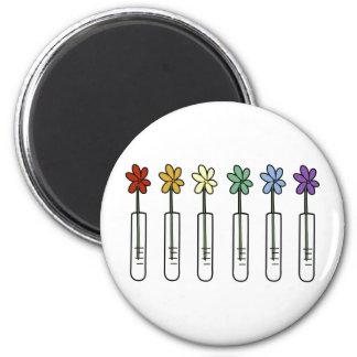 Rainbow Flower and Beaker Scientist Magnet