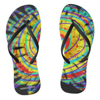 Rainbow Flower Flip Flops