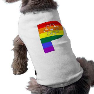Rainbow Flower Initials P Shirt
