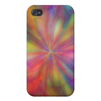 Rainbow Flower iPhone 4 Cover