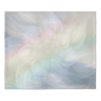 Rainbow Flower Mandala Duvet Cover