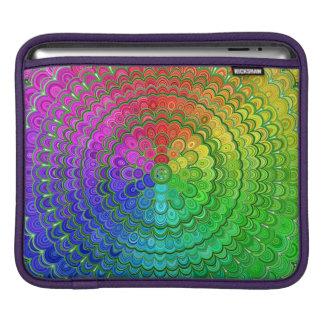 Rainbow Flower Mandala iPad Sleeve