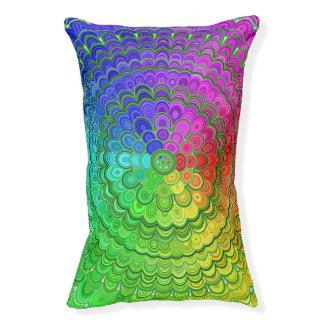 Rainbow Flower Mandala Pet Bed