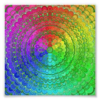 Rainbow Flower Mandala Photo Print