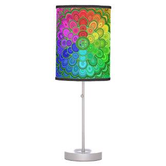 Rainbow Flower Mandala Table Lamp
