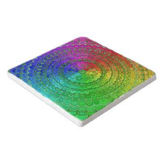 Rainbow Flower Mandala Trivet