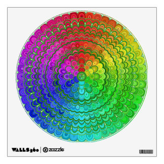 Rainbow Flower Mandala Wall Decal