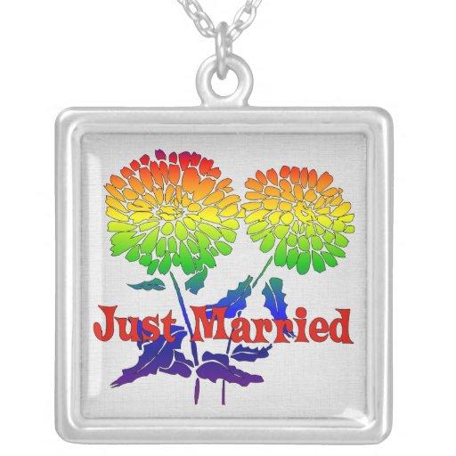 Rainbow Flower Marriage Jewelry