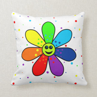 Rainbow Flower Pillow