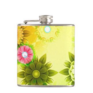 Rainbow Flower Power Flask