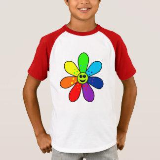 Rainbow Flower Raglan T-Shirt (Child)